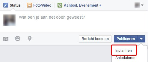 Facebook-bericht-inplannen