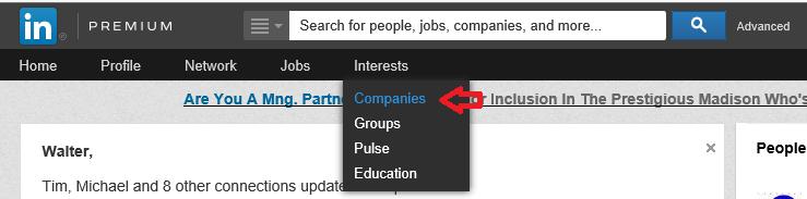 linkedin company updates