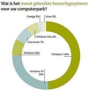 Windows XP gebruik grafiek